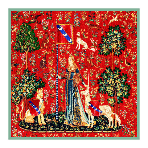 The Touch Panel from the Lady and The Unicorn Tapestries Counted Cross Stitch or Counted Needlepoint Pattern