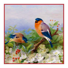 Bullfinches and Blossoms By Naturalist Archibald Thorburn's Counted Cross Stitch or Counted Needlepoint Pattern - Orenco Originals LLC