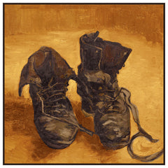 A Pair of Work Boots Detail by Vincent Van Gogh Counted Cross Stitch  Pattern - Orenco Originals LLC