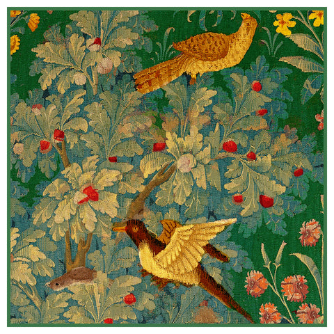 Birds From a  Medieval Hunting Tapestry Counted Cross Stitch or Counted Needlepoint Pattern
