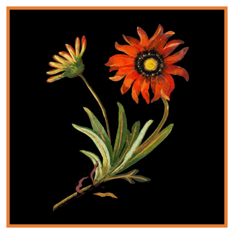 South African Daisy Flowers by Mary Delany Counted Cross Stitch or Counted Needlepoint Pattern