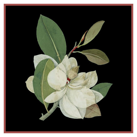 Magnolia Flower by Mary Delany Counted Cross Stitch Pattern DIGITAL DOWNLOAD