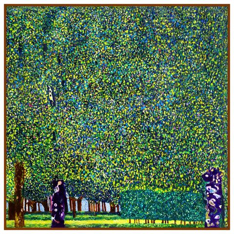 Symbolist Artist Gustav  Klimt The Park Counted Cross Stitch Chart Pattern