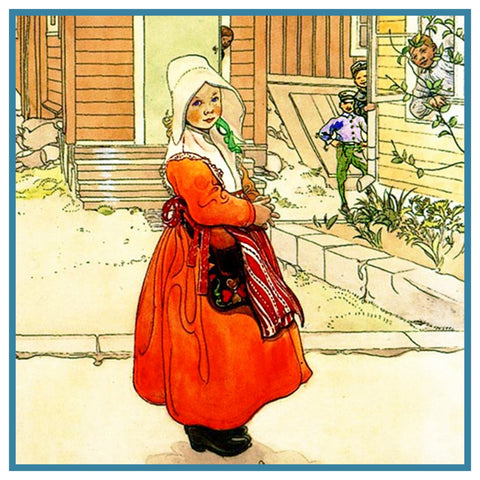 Brita Sunborn Dress inspired Swedish Carl Larsson Counted Cross Stitch Pattern