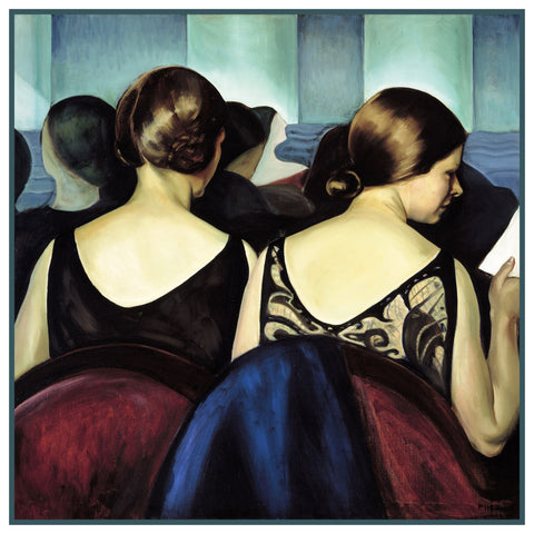 At The Theater by Canadian Artist Prudence Heward Counted Cross Stitch Pattern
