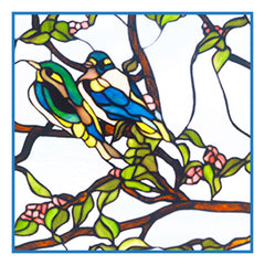 Bluebird Birds inspired by the work of Art Nouveau and Stained Glass Artist Louis Comfort Tiffany  Counted Cross Stitch or Counted Needlepoint Pattern - Orenco Originals LLC