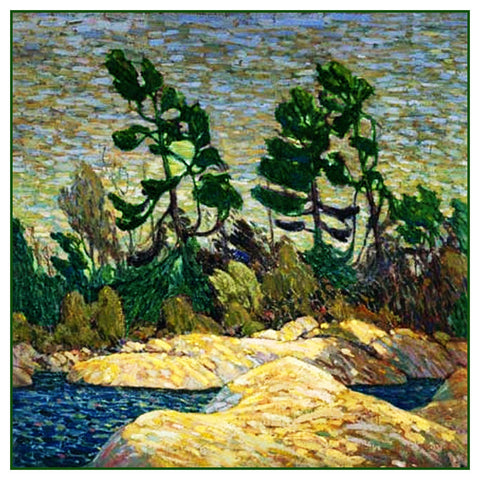 Tom Thomson's Georgian Bay Ontario Canada Landscape Counted Cross Stitch Pattern DIGITAL DOWNLOAD