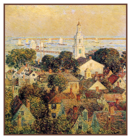 Provincetown Massachusetts Seascape by American Impressionist Painter Childe Hassam Counted Cross Stitch Pattern