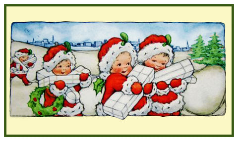 Vintage Christmas Santa Helpers Nimble Nick #11 Counted Cross Stitch Pattern