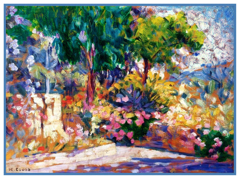 Henri-Edmond Cross Blooming French Garden Orenco Originals Counted Cross Stitch Pattern