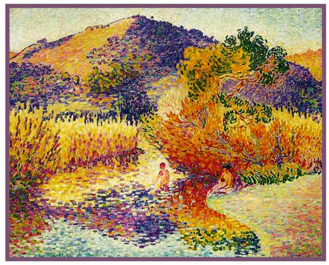 Henri-Edmond Cross River St Clair France Orenco Originals Counted Cross Stitch Pattern