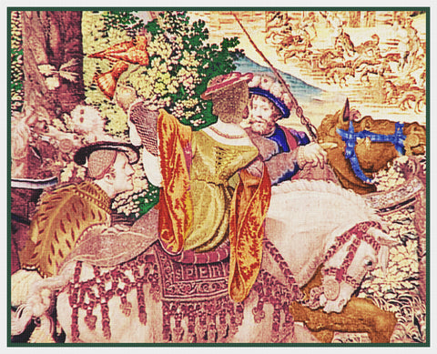 Hunt of Maximillian From Medieval Tapestry Counted Cross Stitch Pattern