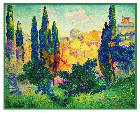 Henri Cross Vivid Cypress Trees Orenco Originals Counted Cross Stitch Pattern