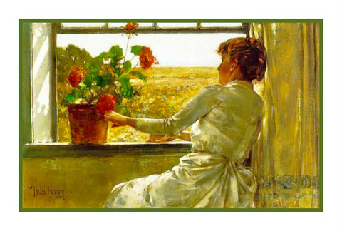 A Summers Evening by American Impressionist Painter Childe Hassam Counted Cross Stitch or Counted Needlepoint Pattern