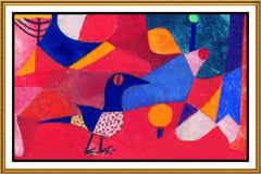 Forest Bird by Expressionist Artist Paul Klee Counted Cross Stitch or Counted Needlepoint Pattern
