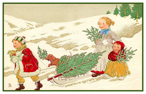 Vintage Christmas Santa Helpers Nimble Nick #25 Counted Cross Stitch Pattern