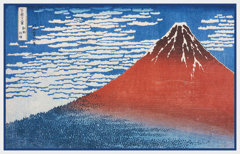 Asian Japanese Mount Fuji Clear Morning by Hokusai Counted Cross Stitch Pattern