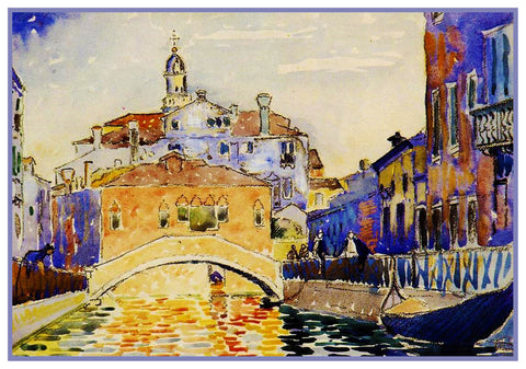 Henri Cross Venice Canal Italy Orenco Originals Counted Cross Stitch Pattern