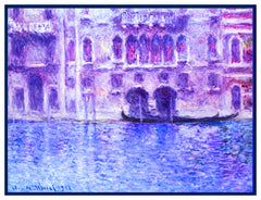 The Venice Canals inspired by Claude Monet's impressionist painting Counted Cross Stitch Pattern