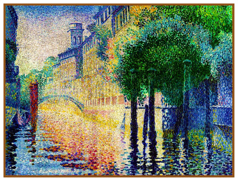 Henri-Edmond Cross Rio San Trovaso Venice Orenco Originals Counted Cross Stitch Pattern