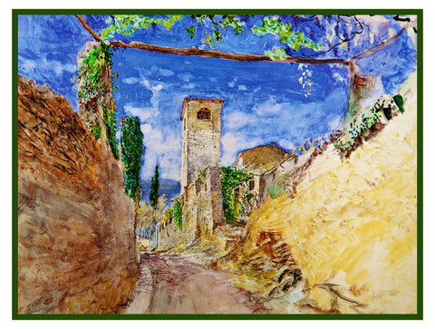 A Vineyard Walk in Lucca Italy by John Ruskin Counted Cross Stitch or Counted Needlepoint Pattern