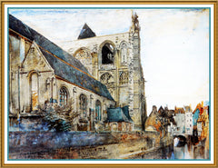 Abbeville Church St Wulfran Ovingdean England by John Ruskin Counted Cross Stitch or Counted Needlepoint Pattern