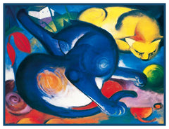 2 Vivid Cats by Expressionist Artis Franz Marc Counted Cross Stitch or Counted Needlepoint Pattern - Orenco Originals LLC