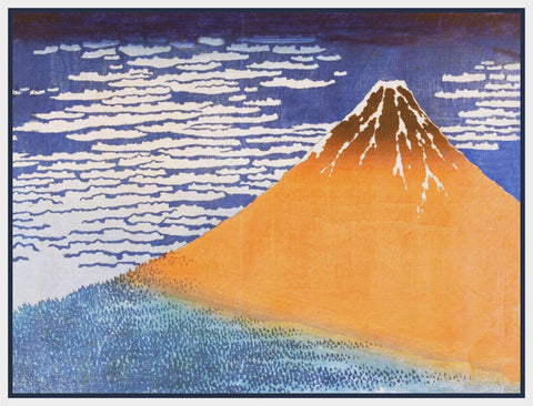 Asian Japanese Mount Fuji Fine Wind  by Hokusai Counted Cross Stitch Pattern
