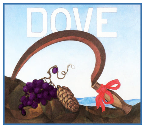 The Dove and Scythe by American Artist Charles Demuth Counted Cross Stitch Pattern