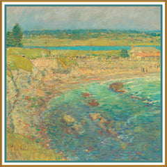 Baileys Beach Rhode Island by American Impressionist Painter Childe Hassam Counted Cross Stitch or Counted Needlepoint Pattern