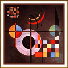 Gravitation by Artist Wassily Kandinsky Counted Cross Stitch or Counted Needlepoint Pattern