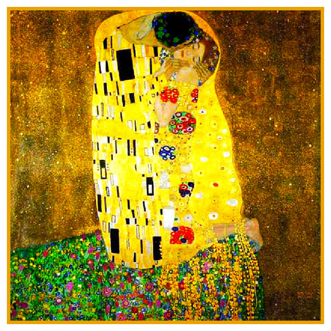 Art Nouveau Artist Gustav Klimt The KISS Counted Cross Stitch Pattern DIGITAL DOWNLOAD