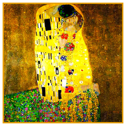 Art Nouveau Artist Gustav Klimt The KISS Counted Cross Stitch Pattern