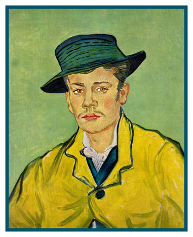 Portrait of Armand Roulin by Vincent Van Gogh Counted Cross Stitch or Counted Needlepoint Pattern