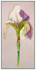 John Ruskin Drawing of an Iris Flower Counted Cross Stitch Pattern