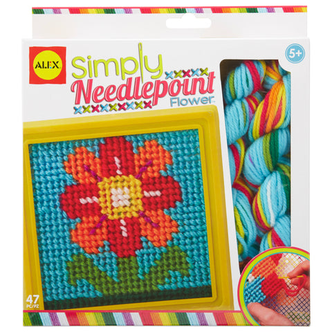Alex Craft Simply Needlepoint Flower Kids Art and Craft Activity