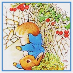 Peter Falls OFF a Wall inspired by Beatrix Potter Counted Cross Stitch Pattern