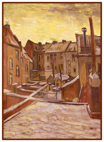 Houses in Arles by Impressionist Artist Vincent Van Gogh Counted Cross Stitch Pattern