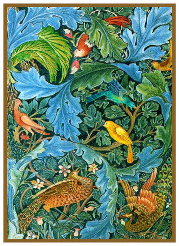 William Morris Vibrant Acanthus and Birds Design Counted Cross Stitch Pattern