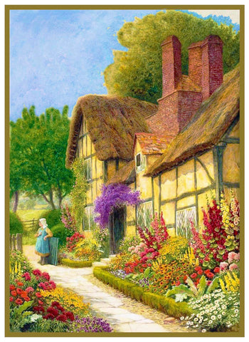 An English Cottage Garden Arthur Strachan Counted Cross Stitch Pattern