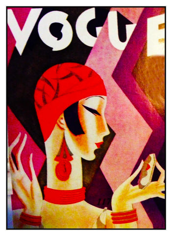 Art Deco Flapper Vogue Cover  Eduardo Garcia Benito Counted Cross Stitch Pattern