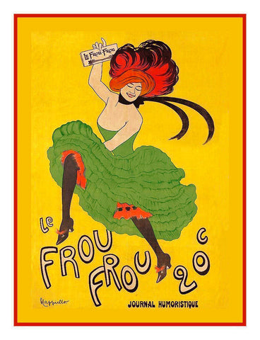 Frou Frou Advertisement Art Leonetto Cappiello Counted Cross Stitch Pattern
