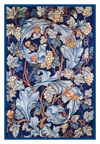 Acanthus Leaves and Grapes by William Morris Counted Cross Stitch Pattern