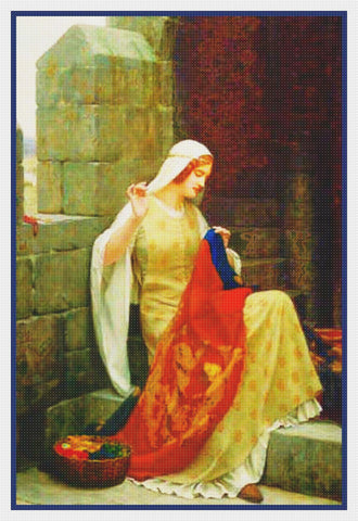 Medieval Stitching The Standard #2 inspired by Edmund Blair Leighton Counted Cross Stitch Pattern