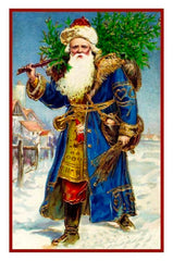 Father Christmas Santa Claus St Nick # 505 Counted Cross Stitch Pattern DIGITAL DOWNLOAD