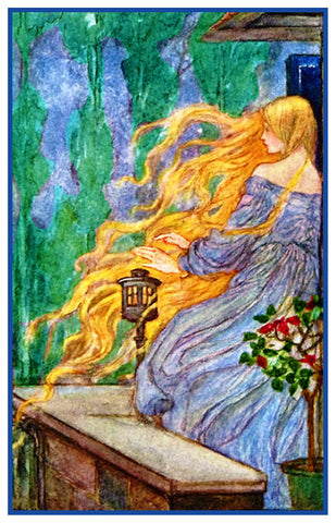 PreRaphaelite Florence Harrison Rapunzel Fairy Tale Counted Cross Stitch Pattern