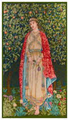 Arts and Crafts Orchard Maiden by William Morris Counted Cross Stitch or Counted Needlepoint Pattern