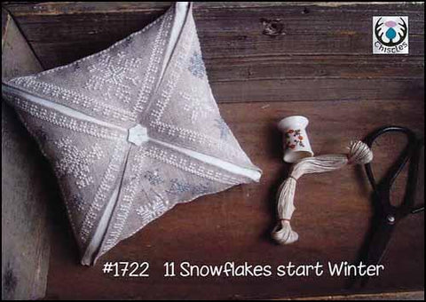11 Snowflakes Start Winter by Thistles Counted Cross Stitch Pattern