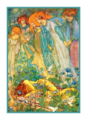 Pre-Raphaelite Florence Harrison Dream Fairies Counted Cross Stitch Pattern