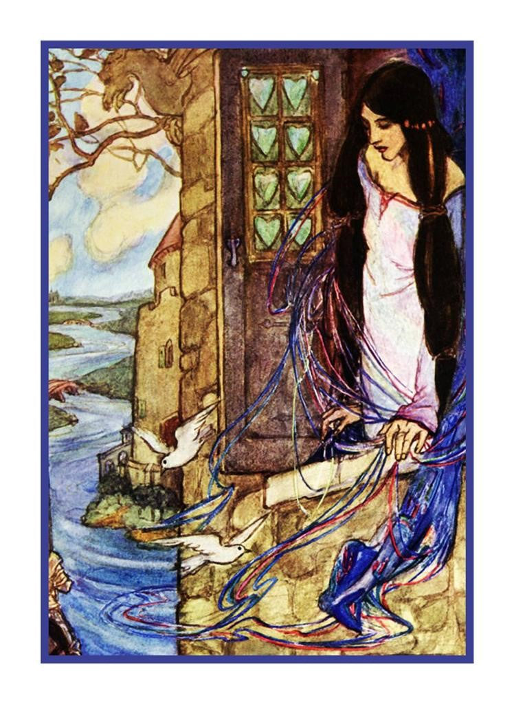 Pre Raphaelite Florence Harrison Lady of Shalott Counted Cross Stitch Pattern